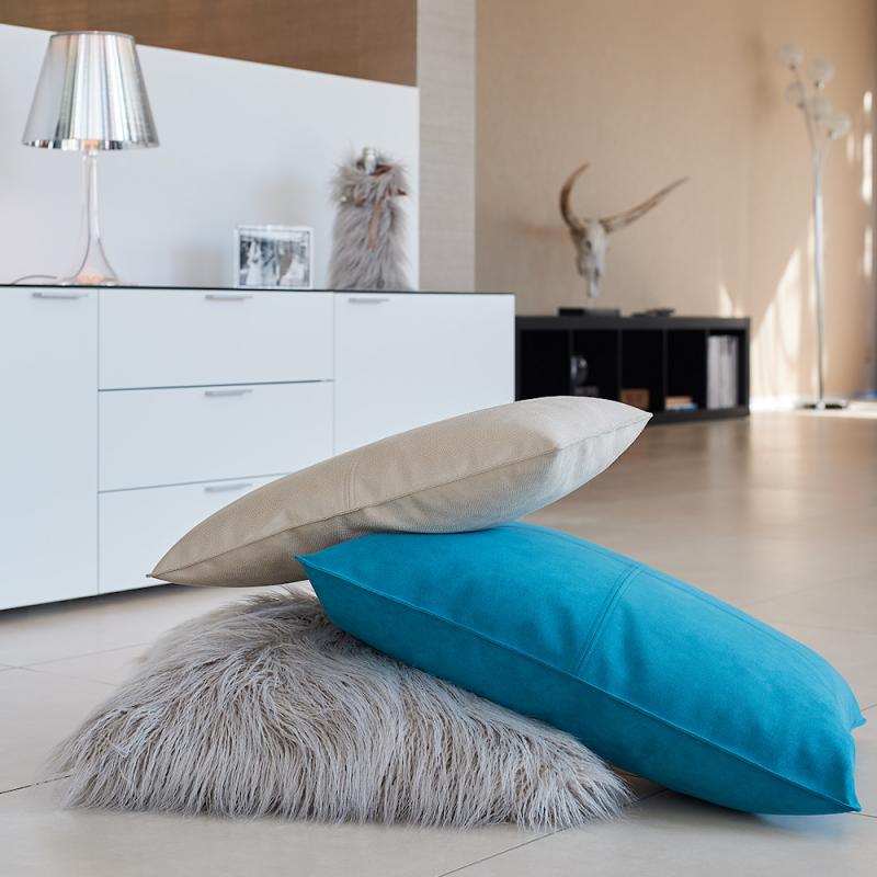 Winter Home Kissen Fellimitat Curlysmoke 45x45 cm Günstig kaufen
