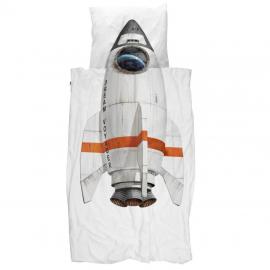 Snurk Kinderbettwäsche Garnitur Rakete 160x210+65x100 cm