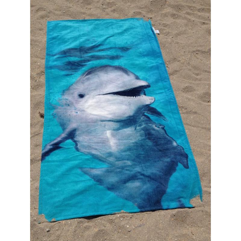 Strandtuch Flipper Familie 76x152 cm