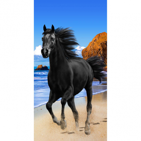 Strandtuch Black Beauty 76x152 cm