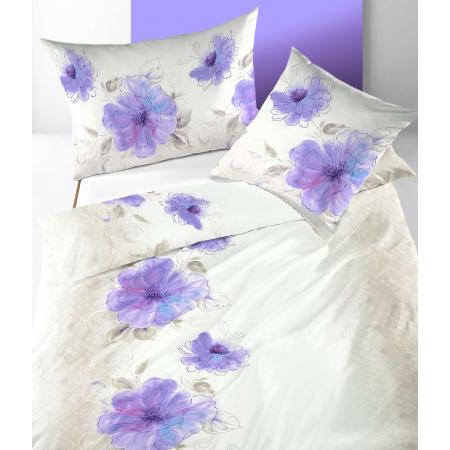 Feinsatin Bettwäsche Alexandria mit Blumen Muster