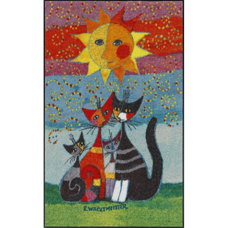 Design Fussmatte Momenti 75x120 cm mit Katzenmuster