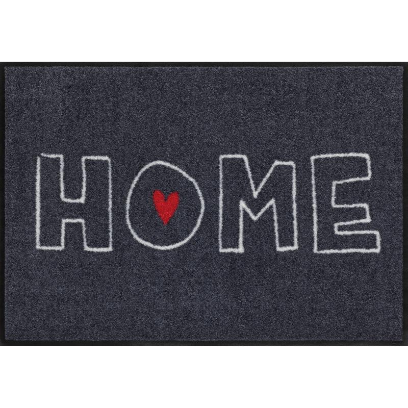 Fussmatte Heart Home 50x75 cm Schwarz