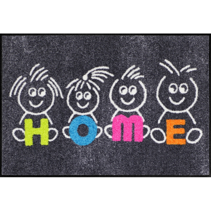Fussmatte Kids Home 50x75 cm Schwarz