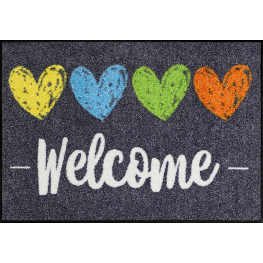 Fussmatte Heart Welcome 50x75 cm
