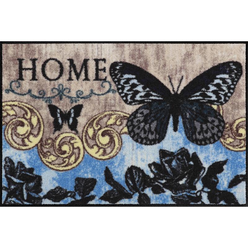 Fussmatte Papillon Bleu 50x75 cm Braun