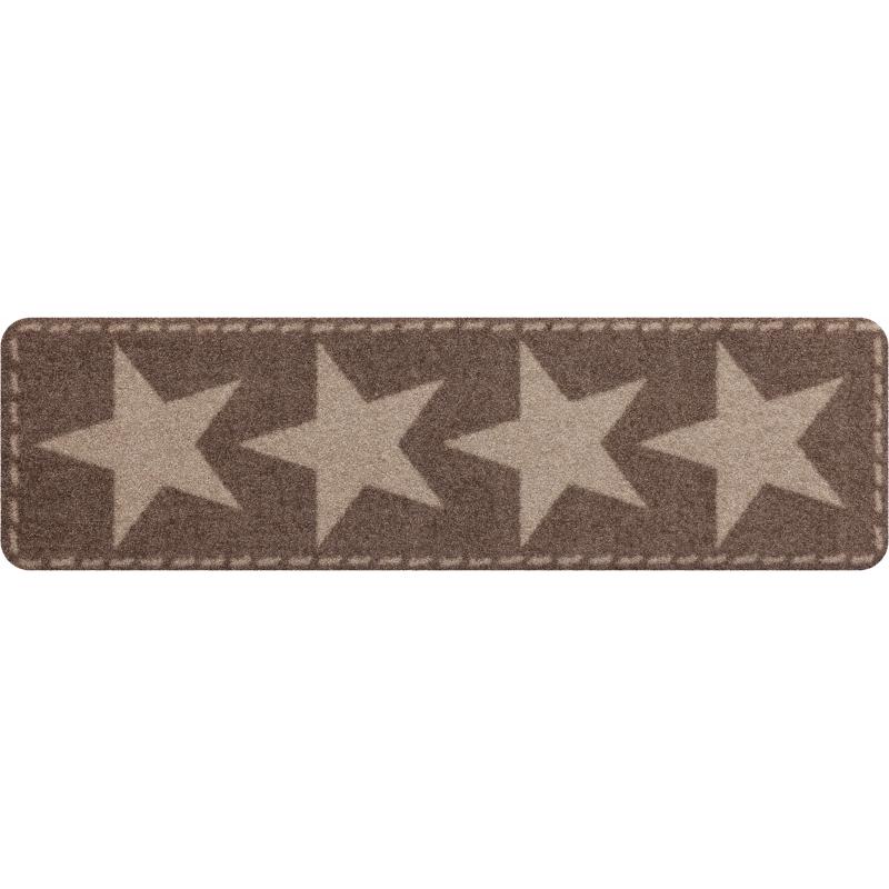Fussmatte ohne Rand Stars Nougat 30x100 cm