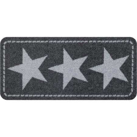 Fussmatte ohne Rand Stars Silver 30x60 cm