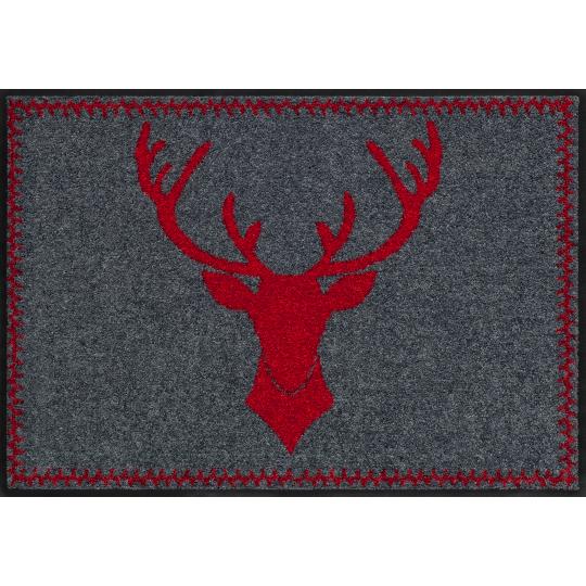 Fussmatte Franz rot 50x75 cm