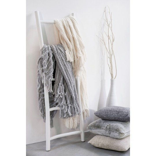 Winter Home Kunstfelldecke in Strickoptik GALLOWAY grey 130x180 cm